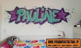 pauline billmaier die wandgestaltung graffiti kinderzimmer schriftzug sprayer graffitiauftrag heidelberg wiesloch