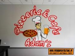 pizza graffiti WIESLOCH BILLMAIER DIE WANDGESTALTUNG graffitiauftrag fassade heidelberg sprayer sinsheim mannheim