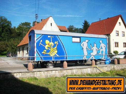 toilettenwagen baiertal WIESLOCH BILLMAIER DIE WANDGESTALTUNG graffitiauftrag fassade heidelberg sprayer sinsheim mannheim karlsruhe speyer
