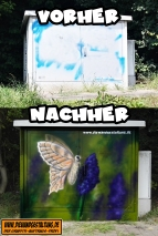 Unterhof Horrenberg trafo schmetterling sprayer graffitiauftrag billmiaer die wandgestaltung sinshei heidelberg speyer karlsruhe garagentore kinderzimmer